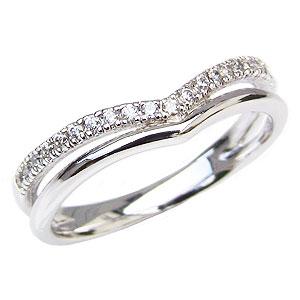 ダイヤモンドリング ダイヤモンド指輪 ダイヤモンド 0.10ct ダイヤ Vライン 送料無料 カジュアル
