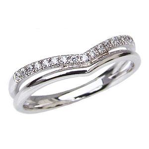 ダイヤモンドリング ダイヤモンド指輪 ダイヤモンド 0.08ct ダイヤ Vライン 送料無料 カジュアル