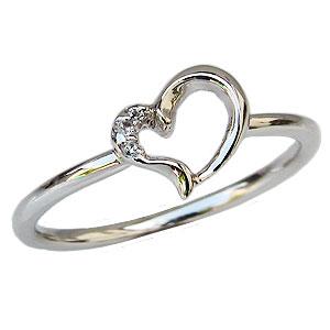 母の日 2019 ハートリング ダイヤモンドリング ピンキーリング ダイヤモンド指輪 プラチナ PT900 ダイヤモンド ハートモチーフ