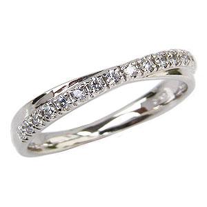 ダイヤモンドリング ダイヤモンド指輪 ダイヤモンド 0.17ct K18 ホワイトゴールド 送料無料 カジュアル