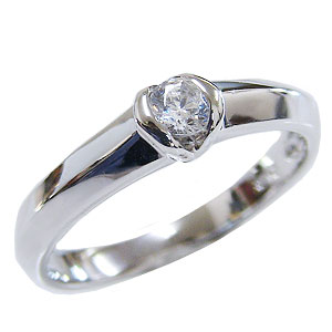 母の日 2019 ダイヤモンドリング エンゲージリング 一粒石ダイヤモンド 婚約指輪 プラチナ PT900 ダイヤモンド0.15ct