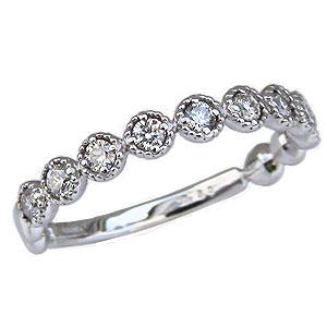 ダイヤモンドリング エタニティリング ダイヤモンド 0.30ct ハーフエタニティ 指輪 K18 ホワイトゴールド 送料無料