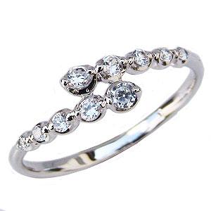 ダイヤモンドリング ダイヤモンド 10石 ダイヤ 0.19ct プラチナ PT900 指輪 送料無料