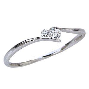 ダイヤモンドリング ピンキーリング ダイヤリング ダイヤモンド 指輪 ダイヤモンド0.06ct 送料無料