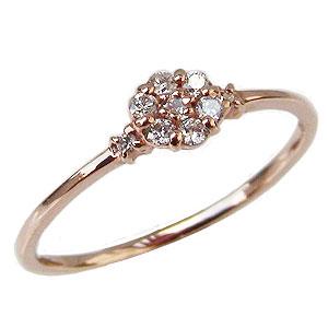 ダイヤモンドリング ダイヤ 指輪 ピンクゴールド K10 ダイヤモンド 0.12ct 送料無料
