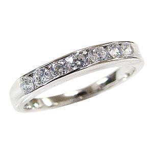 ダイヤモンドリング ダイヤモンド 0.49ct 指輪 4月誕生石 プラチナ PT900 ハーフエタニティー リング 送料無料