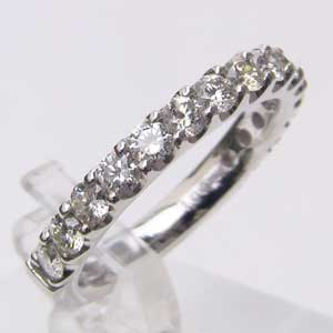 ダイヤモンド K18WG ホワイトゴールド エタニティリング 指輪 送料無料