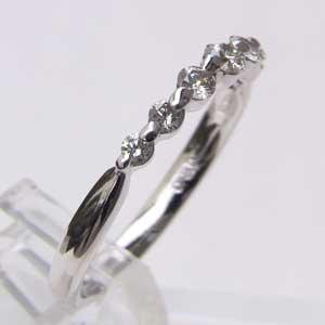 ダイヤモンド K18WG ホワイトゴールド エタニティリング 指輪