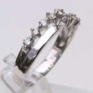 ダイヤモンド K18WG ホワイトゴールド リング 指輪 送料無料