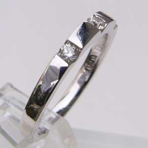 メンズ ピンキーリング ダイヤモンド ホワイトゴールド 指輪 送料無料 バレンタイン