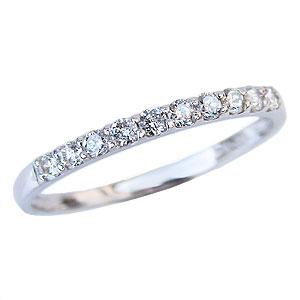 ダイヤモンド リング ハーフエタニティリング 指輪 ダイヤモンド 0.20ct プラチナ PT900 送料無料