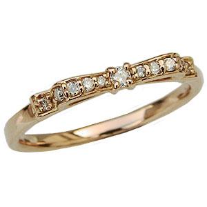 ダイヤモンド リング ダイヤモンド 指輪 ピンクゴールド K18 送料無料 カジュアル