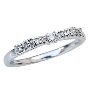 母の日 2019 リボンモチーフ ダイヤモンドリング りぼん ダイヤモンド 0.11ct 指輪 プラチナ PT900 リング