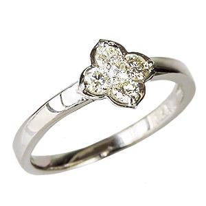 ダイヤモンドリング ダイヤリング ダイヤモンド0.25ct ダイヤモンド指輪 ダイヤ ホワイトゴールド K18WG フラワーモチーフ 送料無料 誕生日プレゼント クリスマスプレゼント ホワイトデー 記念日 カジュアル