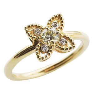 母の日 2019 ダイヤリング ダイヤモンド リング ダイヤモンド指輪 ダイヤモンド 0.30ct フラワー花モチーフ 18金 ゴールド K18 送料無料 誕生日プレゼント クリスマスプレゼント ホワイトデー 記念日