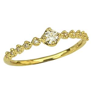 リング ダイヤモンドリング K18 ゴールド 指輪 送料無料