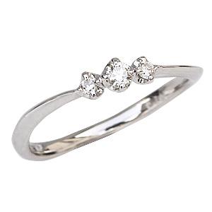 ダイヤモンド ピンキーリング ダイヤモンドリング 0.10 プラチナ 送料無料
