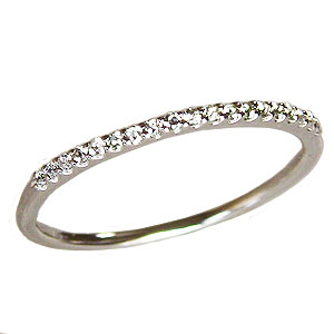 ダイヤモンド リング エタニティーリング 指輪 ダイヤモンド 0.09ct エタニティ K18WG ホワイトゴールド 送料無料