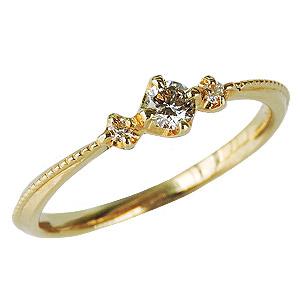 母の日 2019 ダイヤモンドリング ダイヤリング ダイヤモンド0.15ct ダイヤモンド指輪 ダイヤ スリーストーン K18 イエローゴールド 18金 送料無料 誕生日プレゼント クリスマスプレゼント ホワイトデー 記念日