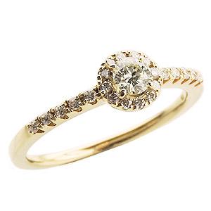 ダイヤリング ダイヤモンドリング ダイヤモンド指輪 ダイヤモンド 0.35ct K18 ゴールド 18金 レディース ジュエリー 誕生日プレゼント クリスマスプレゼント ホワイトデー 記念日 送料無料 カジュアル