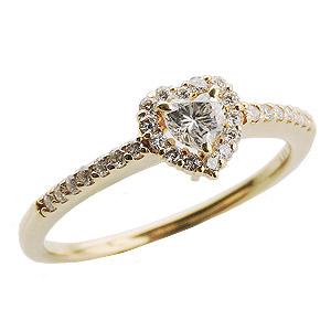 母の日 2019 ハートダイヤリング ダイヤモンドリング ダイヤモンド指輪 ハートシェイプ ダイヤモンド K18 ゴールド 18金 レディース ジュエリー 送料無料 誕生日プレゼント クリスマスプレゼント ホワイトデー 記念日