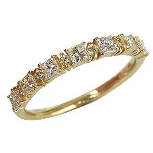 ダイヤモンドリング ダイヤリング エタニティーリング ダイヤモンド0.55ct ダイヤモンド指輪 ダイヤ K18 イエローゴールド 送料無料 誕生日プレゼント クリスマスプレゼント ホワイトデー 記念日