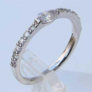 指輪 ダイヤモンド ホワイトゴールド リング マーキスダイヤモンド 指輪