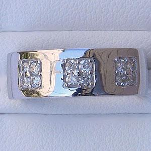 メンズ ピンキーリング ダイヤモンド ホワイト ゴールド 指輪 0.30ct 送料無料 バレンタイン