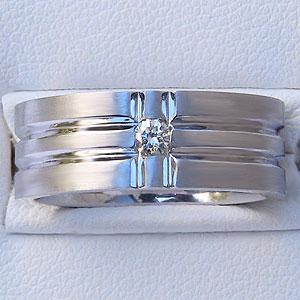 メンズ ピンキーリング ダイヤモンド リング ホワイト ゴールド 指輪 送料無料 父の日 バレンタイン