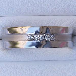 指輪ダイヤモンド リング ホワイト ゴールド K18WG 指輪 プレゼント ジュエリー