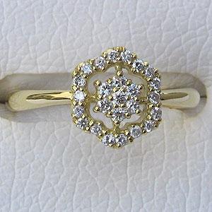 母の日 2019 指輪ダイヤモンド リング K18 ゴールド 指輪 プレゼント ジュエリー