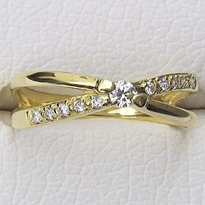 指輪 ダイヤモンド リング K18 ゴールド 指輪 プレゼント ジュエリー 送料無料