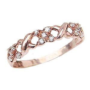 母の日 2019 ダイヤモンド リング ピンクゴールド K18 ダイヤモンド指輪 0.12ct ライトジュエリー