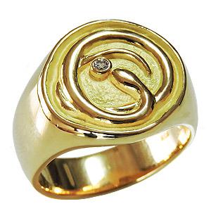 スネークリング ヘビリング メンズリング ダイヤモンドリング 蛇モチーフ 指輪 印台リング へび メンズ 男性用 ゴールド 18金 K18 送料無料 父の日 バレンタインデー クリスマス 誕生日 プレゼント ギフト カジュアル