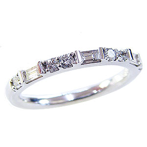 ハーフエタニティリング ダイヤモンドリング エンゲージリング ホワイトゴールド k18 指輪 K18 ダイヤモンド