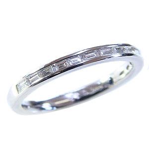 ハーフエタニティリング ダイヤモンドリング エンゲージリング ホワイトゴールド 指輪 K18WG ダイヤモンド 内側にサファイア入り