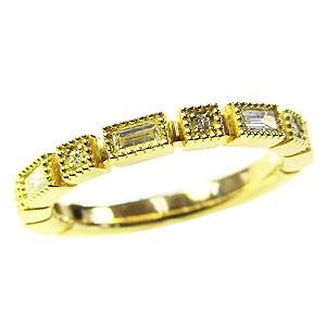 ダイヤモンドリング エンゲージリング エタニティリング K18 イエローゴールド k18 指輪 ダイヤモンド