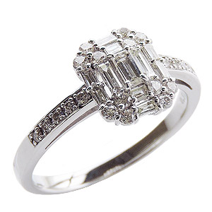 母の日 2019 ダイヤモンドリング 婚約指輪 プラチナ エンゲージリング 指輪 ダイヤモンド 0.50ctアップ バケットカット ラウンドカット 送料無料 誕生日プレゼント クリスマスプレゼント ホワイトデー 記念日