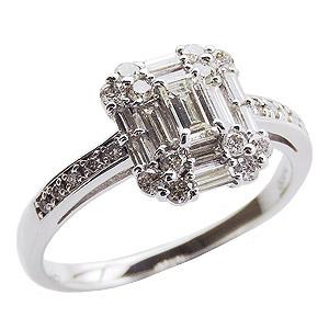 ダイヤモンドリング 婚約指輪 プラチナ エンゲージリング 指輪 ダイヤモンド 0.60ctアップ バケットカット ラウンドカット 送料無料 送料無料 誕生日プレゼント クリスマスプレゼント ホワイトデー 記念日