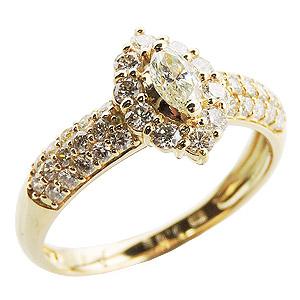 ダイヤモンドリング ダイヤモンド指輪 ダイヤ 1.00ct台 マーキス ラウンド ダイヤモンド ダイヤリング K18 18金 ゴールド 送料無料 レディース 4月誕生石 誕生日プレゼント クリスマスプレゼント ホワイトデー 記念日