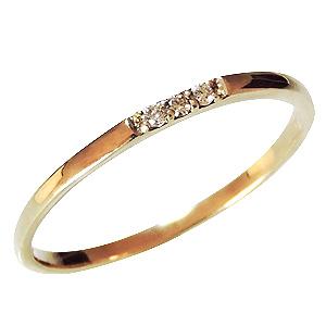 リング ダイヤモンド 0.03ct K18 ダイヤモンドリング 指輪 4月誕生石 送料無料