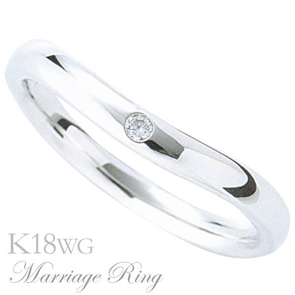 母の日 2019 マリッジリング 結婚指輪 高品質 ダイヤモンド K18 ホワイトゴールド レディース 4bl