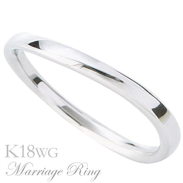 マリッジリング 結婚指輪 高品質 K18 ホワイトゴールド メンズ 5bm