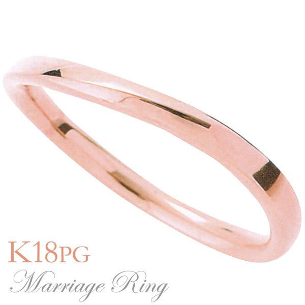 マリッジリング 結婚指輪 高品質 K18 ピンクゴールド メンズ 5im 父の日 バレンタイン