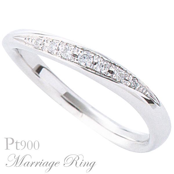 マリッジリング 結婚指輪 高品質 ダイヤモンド Pt900 プラチナ レディース 7al