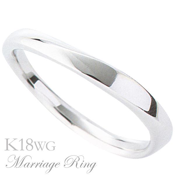 マリッジリング 結婚指輪 高品質 K18 ホワイトゴールド メンズ 7bm 父の日 バレンタイン