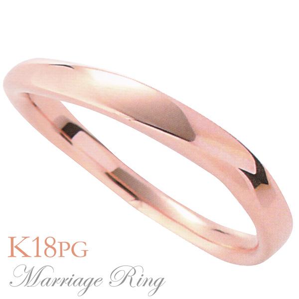 マリッジリング 結婚指輪 高品質 K18 ピンクゴールド メンズ 7im 父の日 バレンタイン