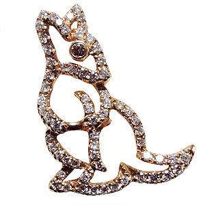 ブローチ カンガルー メンズ 男性用 かんがるー ピンズ ラペルピン ダイヤモンド K18 メンズジュエリー 送料無料 クリスマス バレンタイン