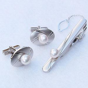 送料無料 プレゼント ギフト 10%OFFクーポン発行中 真珠 パール タイバー カフス セット あこや本真珠 7-7.5mm 人気 アクセサリー トレンド メンズ おすすめ 就職祝い 至高 人気 記念日 入学祝い カジュアル ジュエリー