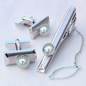 メンズジュエリー 真珠 タイピン パール タイバー カフス シルバー あこや真珠 メンズ 送料無料 父の日 バレンタイン